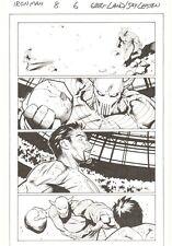 Iron Man #8 p.6 - Tony Stark vs Death's Head in Trial by Combat art by Greg Land