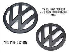 VW Volkswagan golf mk 6 GTI R Mk Negro Mate Parrilla Delantera/Arranque Insignia 2009-2013