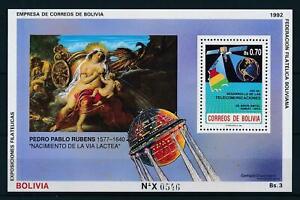 [105990] Bolivia 1992 Space travel art painting Rubens Souvenir Sheet MNH