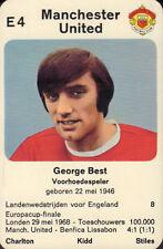 MANCHESTER UNITED - GEORGE BEST #E4 1970 Dutch European Cup Card RARE
