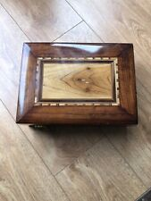 Exquisite Vintage Cigar Tobacco Humidor Large Wooden Engraved Box Made In France