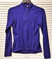 CANARI purplish blue lightweight zippered front cycling jacket size SMALL