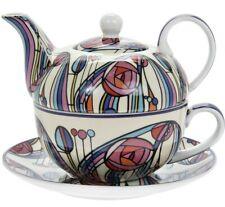 Tea For One Set Mackintosh Rose Floral Cup & Saucer Fine China Pot Teapot Gift