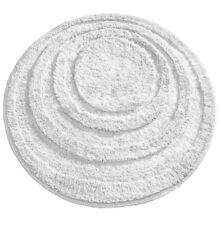 mDesign Soft Microfiber Polyester Non Slip Round Spa Mat Plush Water Navy