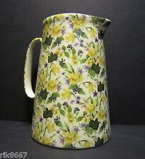 Heron Cross Pottery DAFFODILS 4 Pint English Milk Jug very big (vase)