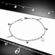 Charm With Padlock Steel I Bracelet Chain/Bracelet Chain With Link Of