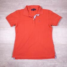 Ladies TOMMY HILFIGER Pink Vintage Designer Polo Shirt T-Shirt Large #F2932