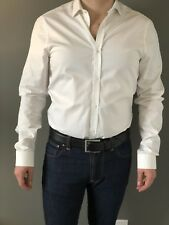 Burberry London Men's Dress Shirt Formalwear 15-1/2 / 39 / 15.5 White Button-Up