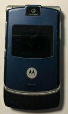 READ BEFORE Motorola RAZR V3 Blue T-Mobile Cell Phone Very Good Used