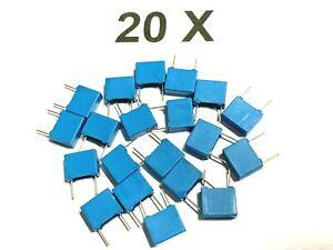 20 x 100nF, 250V-, 160V~, 0,1uF, 10%, RM 7,5, Siemens, B32520C3104K000, 20 Stück