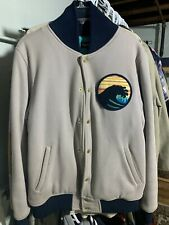 pink dolphin Ocean Academy Varsity Jacket Size L Wave Cut And Sew
