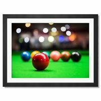 A3  - Pool Table Game Snooker Framed Prints 42X29.7cm #16480
