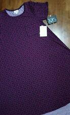 Lularoe Carly Black with Purple Design NWT Extra Extra Small