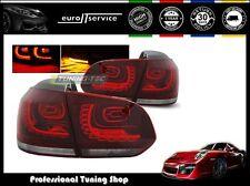 FEUX ARRIERE ENSEMBLE LDVW70 VW GOLF 6 2008 2009 2010 2011 201RED WHITE LED