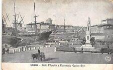 BR37131 Livorno Scali d Azeglio e Monumento Qauttro Mori ship bateaux char italy