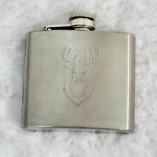 Deer Antler Hunting Hunter Camo Diamond Stainless Steel 5oz Hip Drink Flask