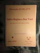 Alessandro Scarlatti Salve Regina deux voix deux violons basse partition Jobert