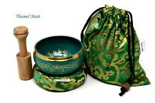 4 Inch Tibetan Meditation Yoga Singing Bowl Set with MalletCushion and carry bag