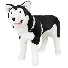 Large Husky Dog Plush Animal Realistic Soft Stuffed Toy Pillow Pet Wolf