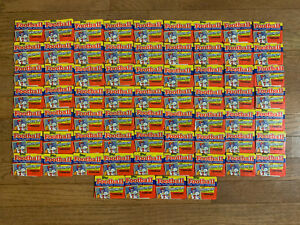 Sixty-Seven (67) 1988 Topps Football Yearbook Stickers Sealed Packs Lot