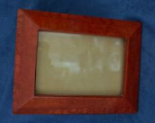 Vintage Natural Coral Picture Frame Red Lacquer Finish 5.25 x 6.75 Philippines