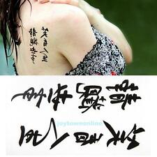 10pcs Removable Chinese Words Temporary Tattoo Sticker Waterproof Body Art Decor