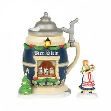 Department 56 Alpine Village CHRISTMAS MARKET, BIER STEIN BOOTH Set/2 4035564