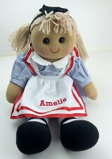 Personalised Handmade Rag Doll With 'Alice' Design 40cm. Great Gift