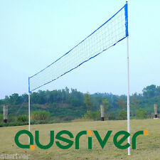 Portable Folding Outdoor Beach Game Volleyball Net Storage Carry Bag Blue
