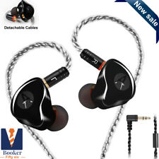 In Ear Monitors,Wired Earbuds Earphone Dual Drivers Headphone MMCX Black No Mic