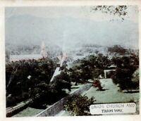 1905 Hong Kong China Union Church Tram Way Postcard (2) 1882 QV 2c Stamps
