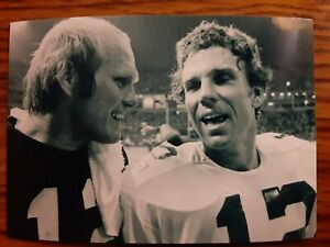 Terry Bradshaw Steelers Roger Staubach Cowboys Football 4x6 Photo Picture Card