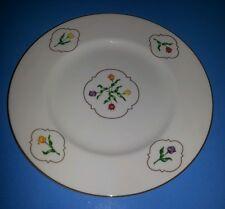 "(1) USED Coalport English Bone China 10¾"" Plate with Tulip Medallion Pattern"