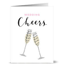 24 Note Cards - Him & Her Wedding Cheers - Gray Envs