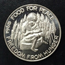 1968 Food For Peace Freedom From Hunger Silver Art Medal A5716