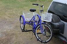 Trike Bike Hitch Rider Rack - Suits STD Trikes & Recumbent Trikes - Genuine NEW