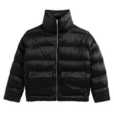La Redoute Black Padded Puffer Jacket Size 12 High Shine Coat New RRP £60