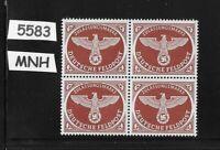 #5583  MNH WWII Feldpost stamp block 1942 WWII emblem Issue Third Reich Military