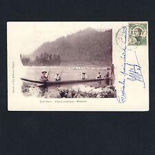 Haut-Laos FISHING&HUNTING / ANGELN&JAGEN Indo-Chine Vietnam * Vintage 1900s PC