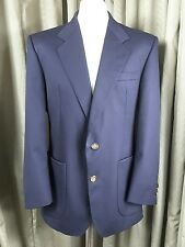 DAKS 100% Pure New Wool Navy Gold Button Blazer C40