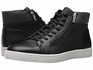 Calvin Klein Men's Balthazar Brushed Saffiano Smth Sneaker, Black, Size 8.0 8Jet