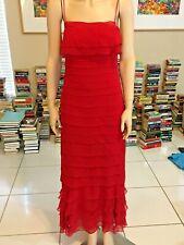 MODA INTERNATIONAL RED SHEATH BALLROOM DRESS SIZE 4 POLYESTER LINED