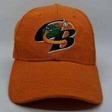 BIG TOP Green Bay Bullfrogs Northwest League Logo Hat Strapback Dad Cap Orange