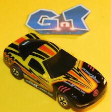TYCO CHEVY CORVETTE YELLOW BLACK HORNET RACING Slot Car HO Running Chassis