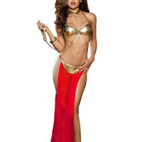 Women Sexy Belly Dance Costume Set Bra Skirt Hip Scarf Collar Performance Outfit