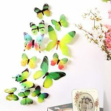 24PCS 3D Butterfly Wall Decal Removable Stickers Decor for Room Decoration Home