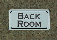 """Back Room Metal Vintage Design Sign 6""""x12"""" for Bar Shop or Business"""