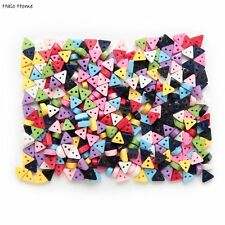 100pcs Mixed 2 hole Resin buttons Triangle Sewing Decor 6mm