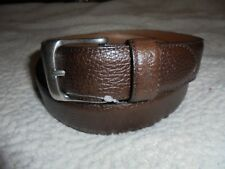 POLO RALPH LAUREN MEN'S LEATHER BELT SIZE 32 BROWN ENGRAVED PONY 78002 NEW
