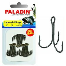 Paladin BIG BAG Laserdrillinge gunsmoke 24 Stk. Gr. 4 Drilling Angel-Haken